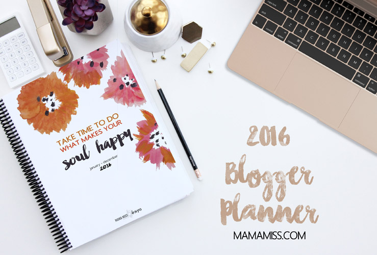 2016 Blogger Planner