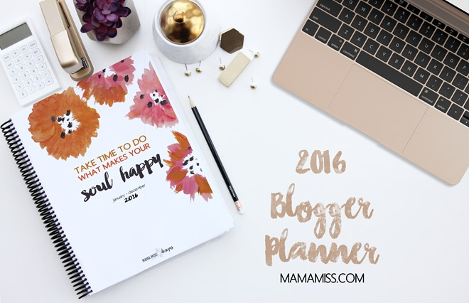 ALL NEW 2016 Blogger Planner - with 19 new pages, 6 revised pages, and 2 available sizes - making it the ultimate organizational tool for bloggers in 2016!