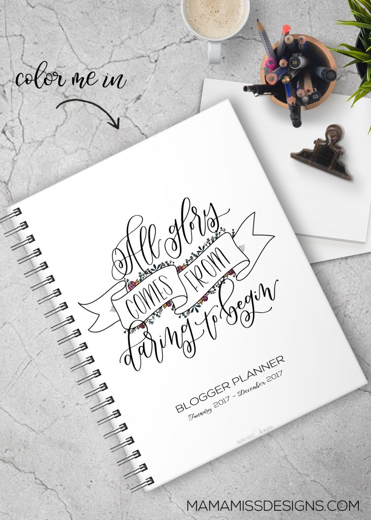 The all NEW 2017 Planners - with 7 new pages, all revised & redesigned pages - making it the ultimate and only organizational tool you'll need for 2017!