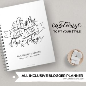 2017 All-Inclusive Blogger Planner Package