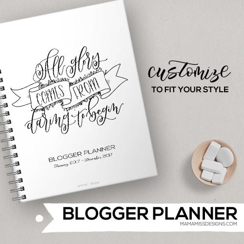 2017 Blogger Planner
