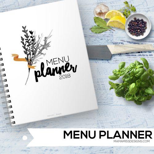 2018 Menu Planner