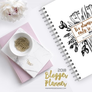 The all NEW 2018 Planners - with revised & redesigned pages - making it the ultimate and only organizational tool you'll need for 2018! #bloggerplanner #bloggertools